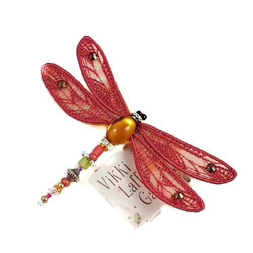 Vikki Lafford Garside Libelle broche met juwelen Sienna 085