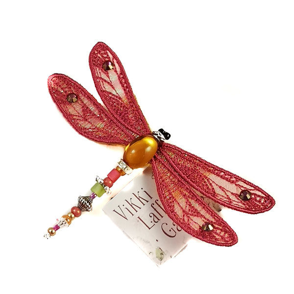 Dragonfly jewelled brooch sienna 085