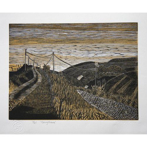 Anita J Burrows Going Home No. 2 - Woodcut Unframed 032