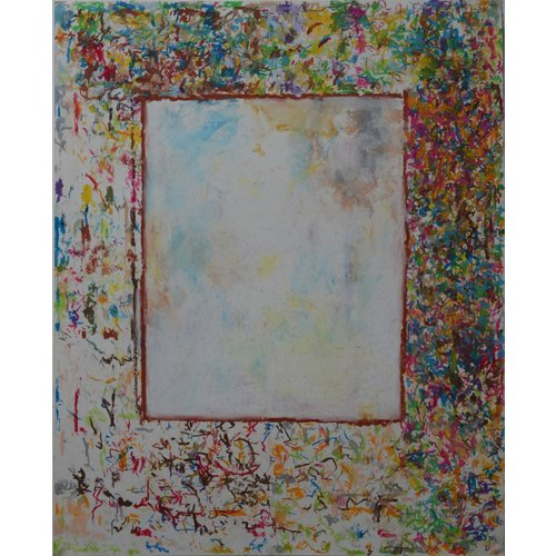 Mike Holcroft First Mirror No.4  oil pastel on paper 176