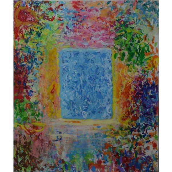 Ocean Blue No.29  oil pastel on paper 178