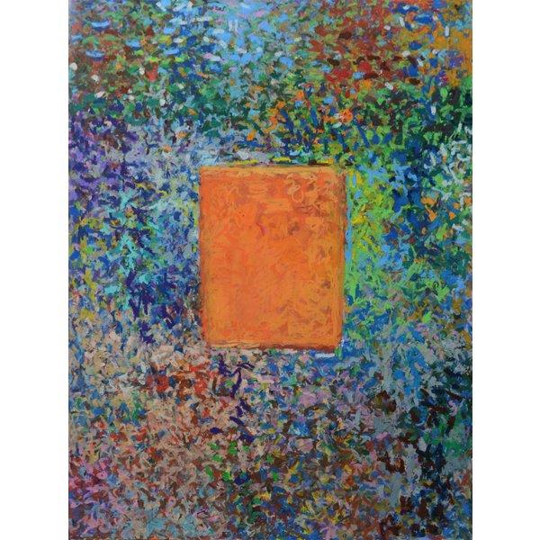 Orange Red No.27  oil pastel on paper 180