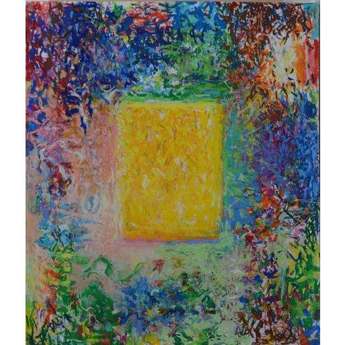 Mike Holcroft Pastel à l'huile jaune riche n ° 78 sur papier 182