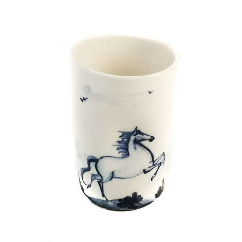 Mia Sarosi Paardenporselein handgeschilderde posy pot 069