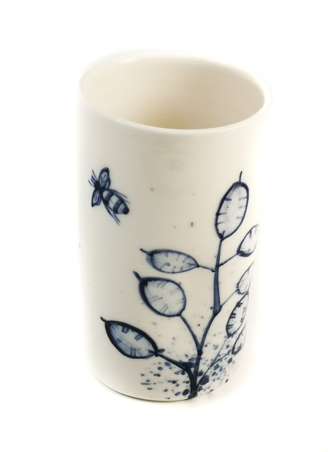 Bienen mit Ehrlichkeit Porzellan handbemalten Blumenstrauß Topf 074