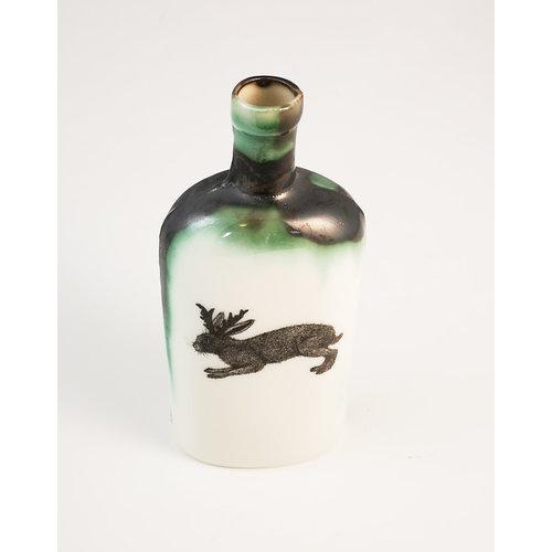 Jillian Riley Designs Conejo con cuernos botella 153
