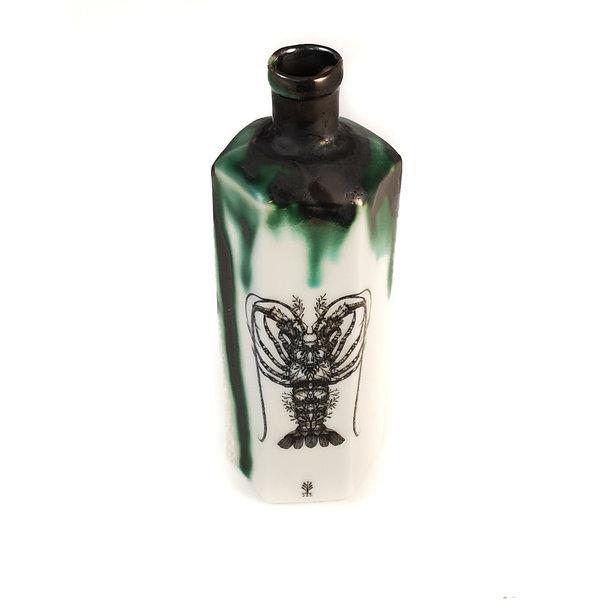 Zeshoekige fles met kreeft 148