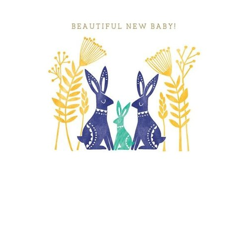 The Art File New Baby with Hares