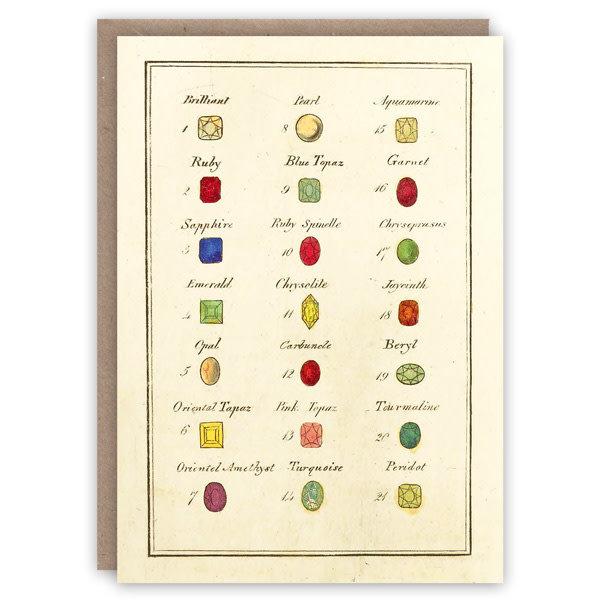 Kabinet van edelstenen patroon boek kaart