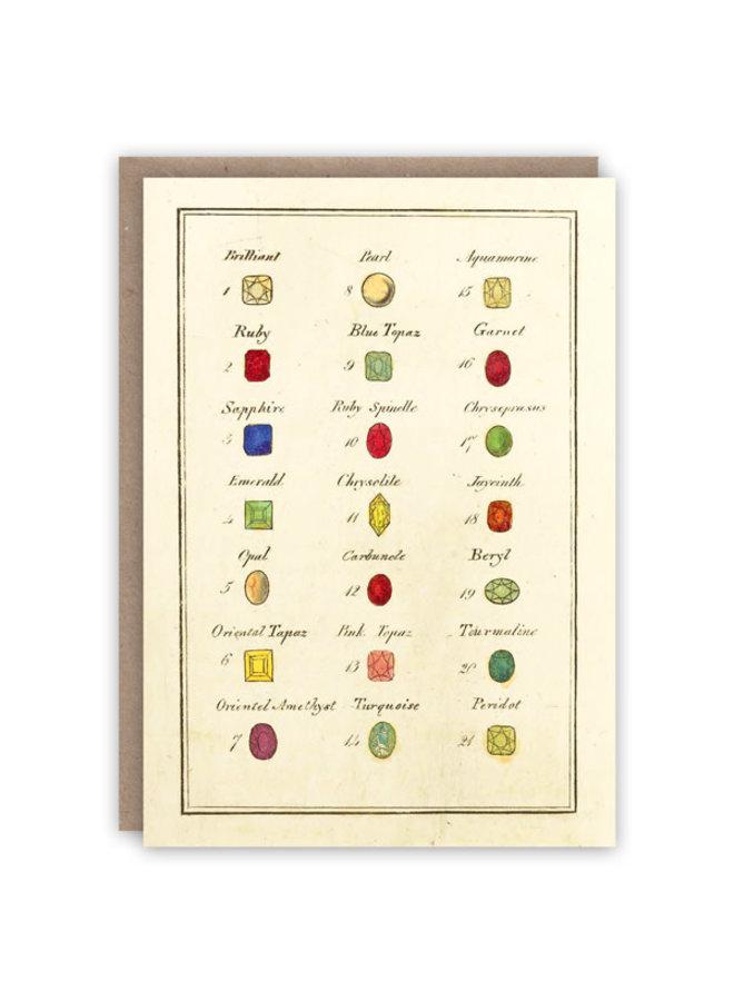 Kabinett der Edelsteine Musterbuchkarte