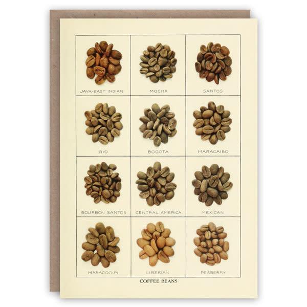 Koffiebonen patroon boek kaart