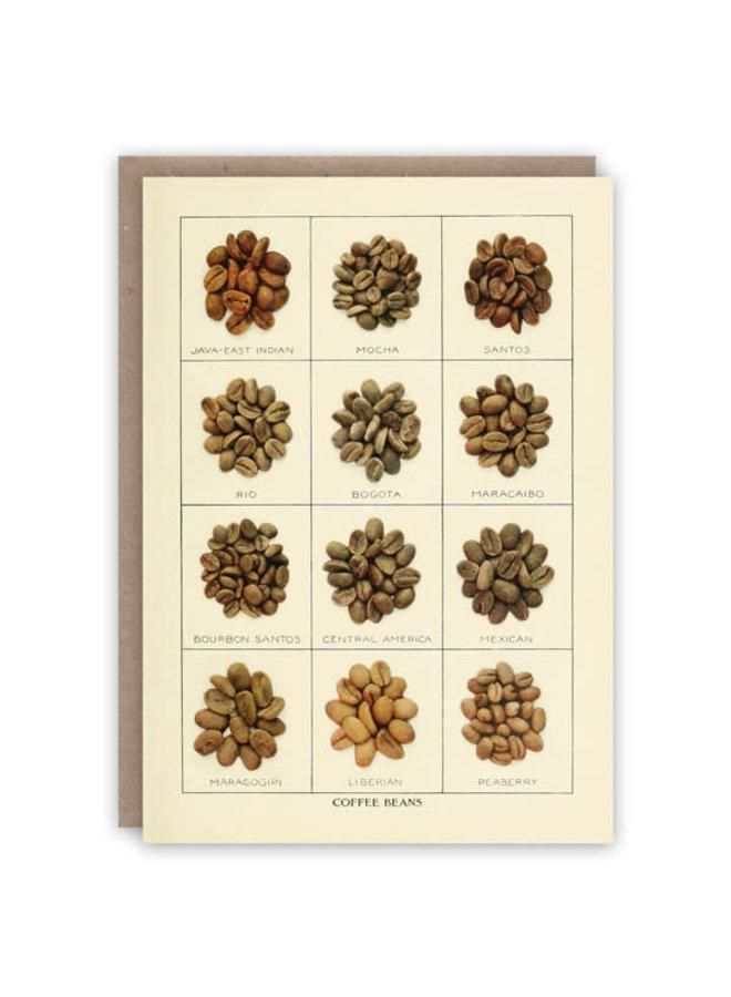 Kaffeebohnenmusterbuchkarte