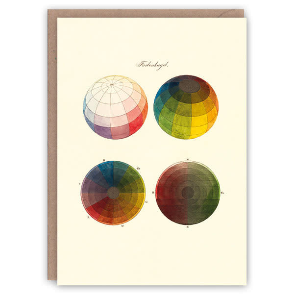 Kleur bollen patroon boek kaart