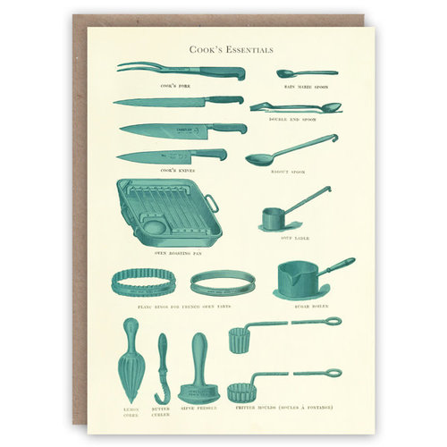 The Pattern Book Cooking Essentials pattern book card