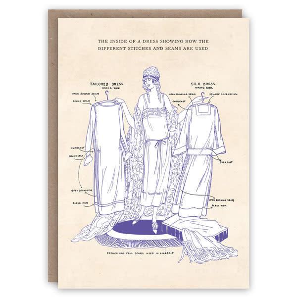 The Inside of a Dresspattern book card