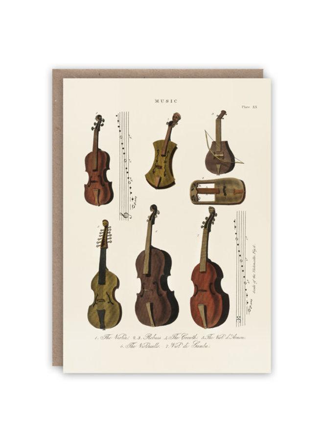 Geigenmusterbuchkarte