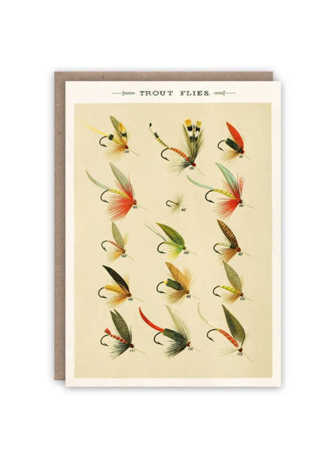 Lieblingsfliegenmuster-Buchkarte
