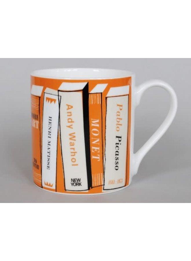Kunstbücher große Tasse Orange