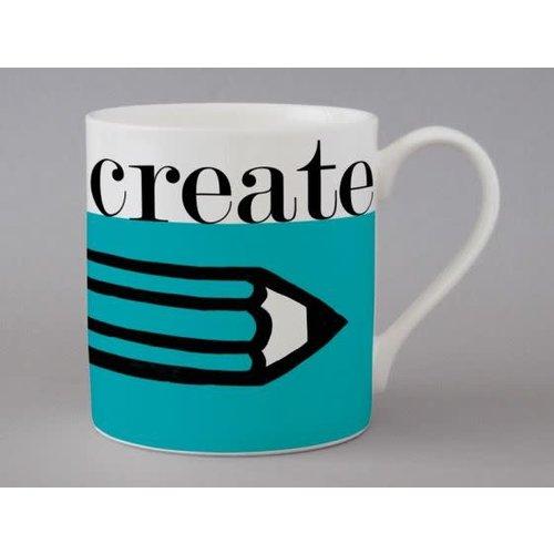 Repeat Repeat Graphic Createt Large Blue Mug   159