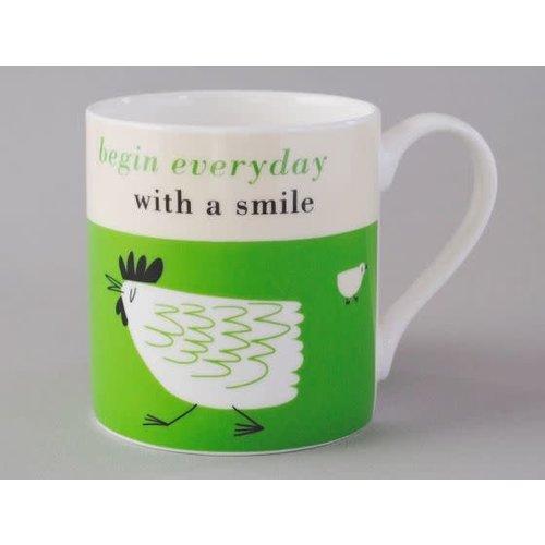 Repeat Repeat Glück Green Chicken Large Mug 156