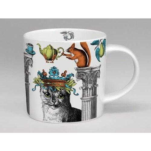 Repeat Repeat Menagerie Cat White large mug bone china 145