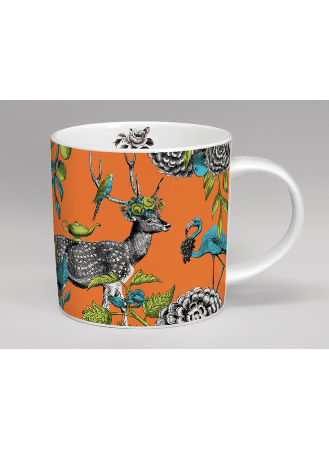Menagerie Deer große orange Tasse 07