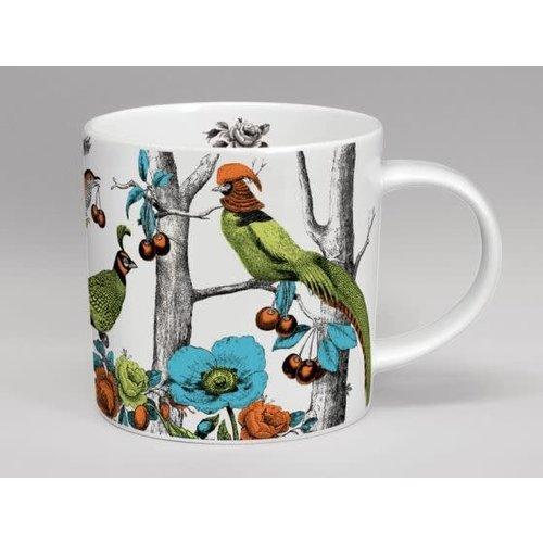 Repeat Repeat Menangerie Exotic Birds large white mug 154