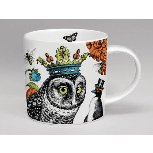 Repeat Repeat Menangerie Owl Hoot grote witte mok 152