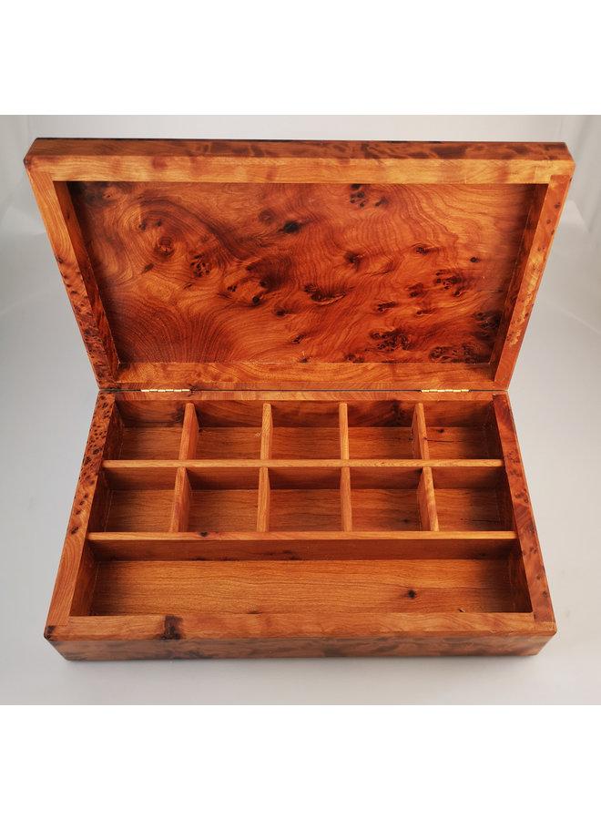 Rose Zinn und Holz Klappbox 11 Abschnitte 025