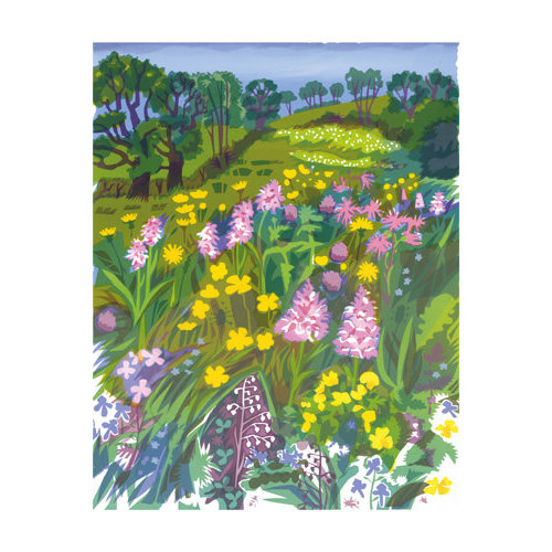 Art Angels A Rare Meadow card by Carry Akroyd