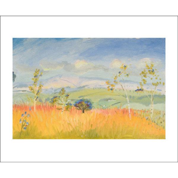 Bright Autumn Sky card by Winifred Nicholson