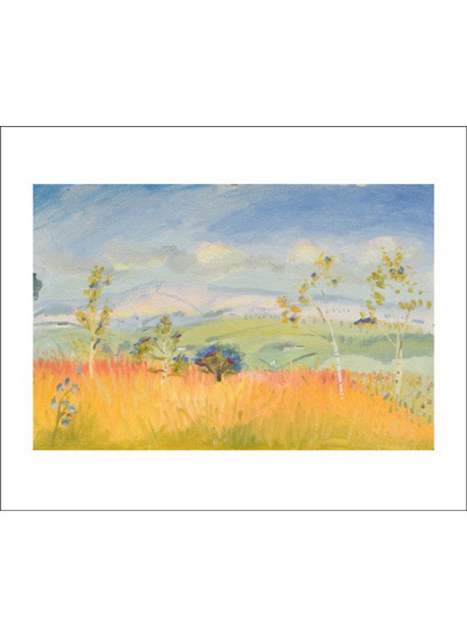Helle Herbsthimmelkarte von Winifred Nicholson
