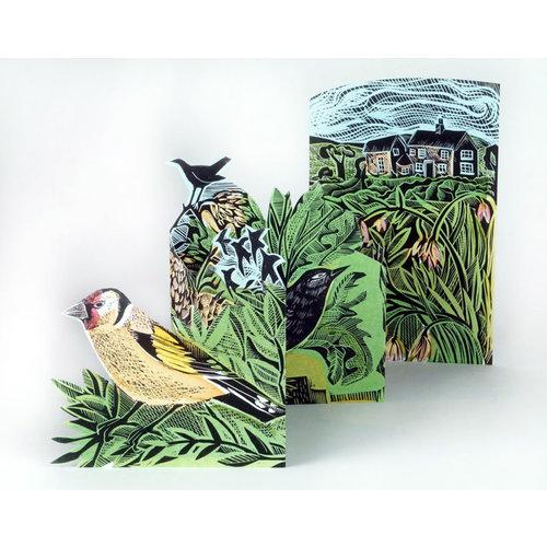 Art Angels Garden Birds 3Dcard by Angela Harding