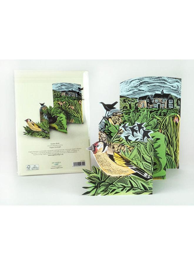 Garden Birds 3Dcard von Angela Harding