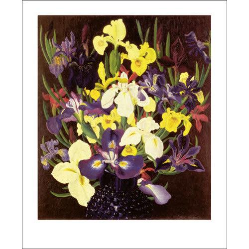 Art Angels Group of  Irises card by Cedric Morris