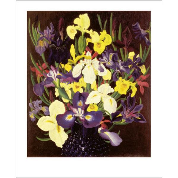 Group of  Irises card by Cedric Morris