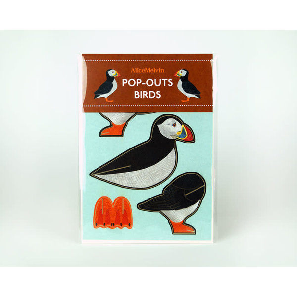 Puffin Pop-Out card byAlice Melvin