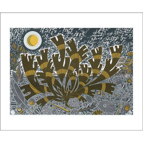 Art Angels Saltmarsh Storm II card by Angie Lewin