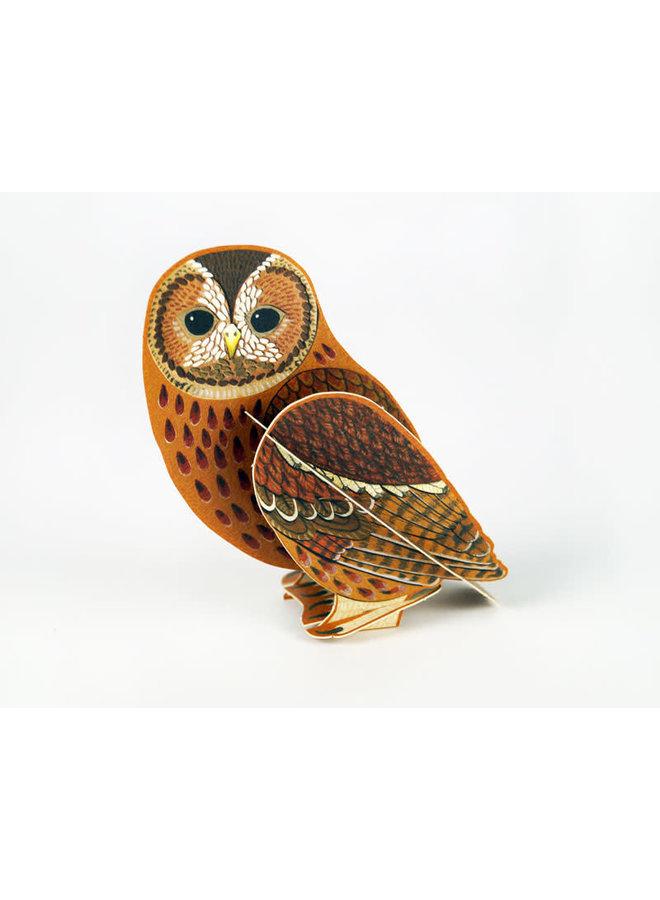 Tawny Owl Pop-Out-Karte von Alice Melvin
