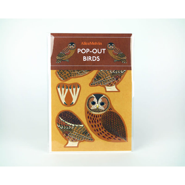 Tawny Owl Pop-Out card byAlice Melvin