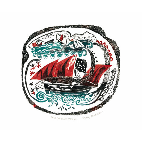 Art Angels When the Boats Come In card by Penny Bhadresa