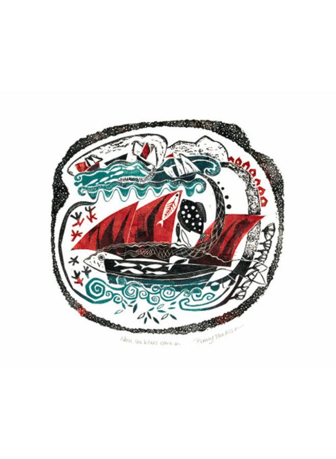 Wenn die Boote kommen Karte von Penny Bhadresa