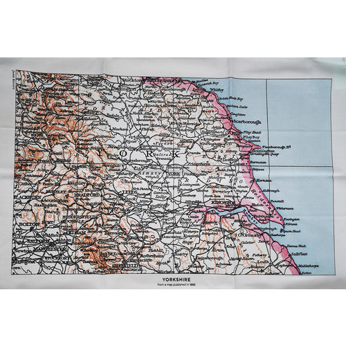 Jane Revitt Yorkshire 1889  Map T. Towel 06