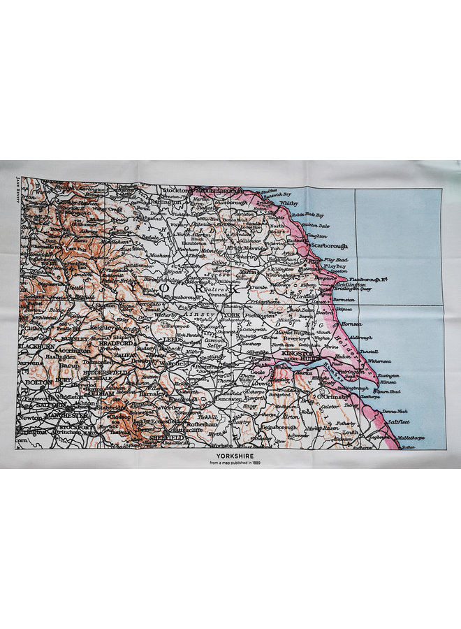 Yorkshire 1889  Map T. Towel 06