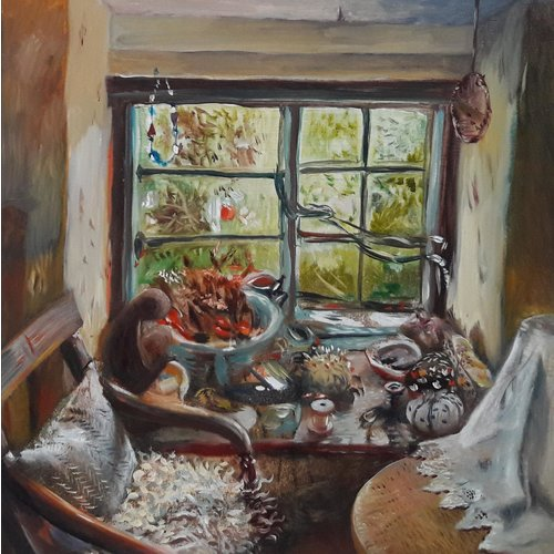Sara Philpott Naaien bij het raam 053