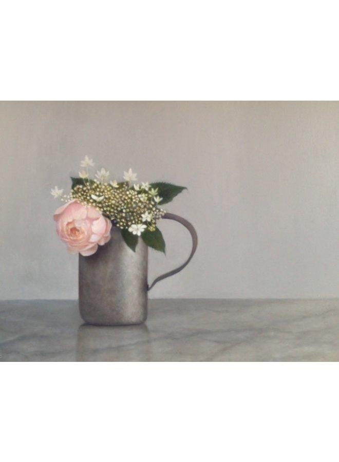 Rose und Hydranger in einem Quart-Maß 033