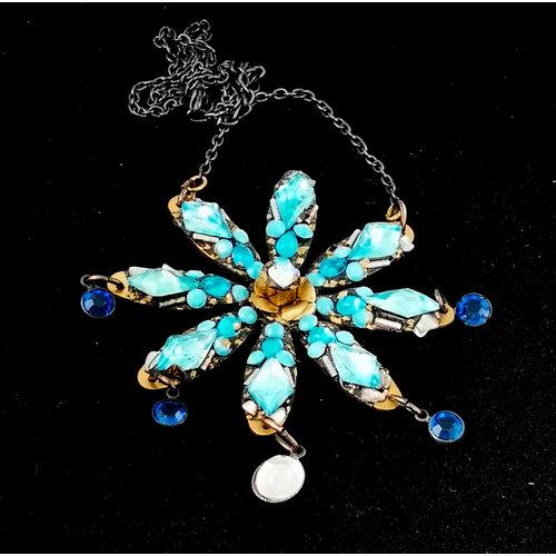 Annie Sherburne Blue Star necklace 178