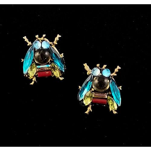 Annie Sherburne Blue Wing Bee stud Earrings 196