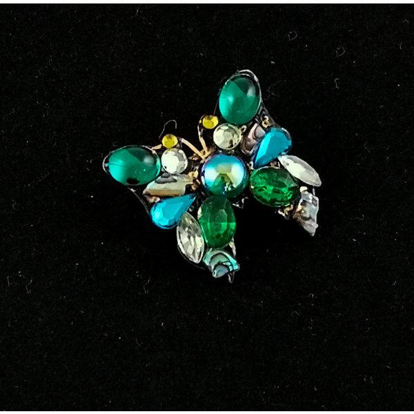 Groene kleine vlinder broche 183