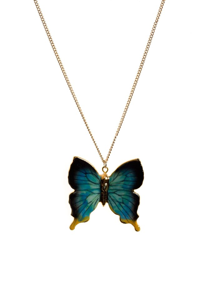 Schmetterling mit Goldkette handbemalt 093